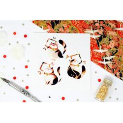 """Carte Postale """"Maneki Neko 2"""""""